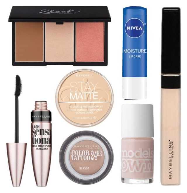 """Drugstore Everyday Make-Up"" by zoesherlock on Polyvore featuring beauty, Maybelline, Rimmel, Nivea and Models Own"