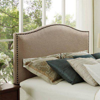 better homes and gardens grayson upholstered headboard oatmeal size rh pinterest nz