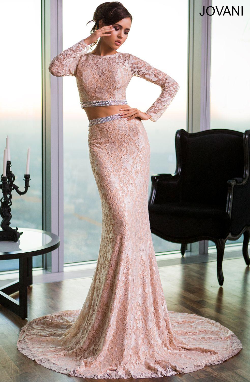 Long sleeve twopiece dress prom dresses pinterest prom