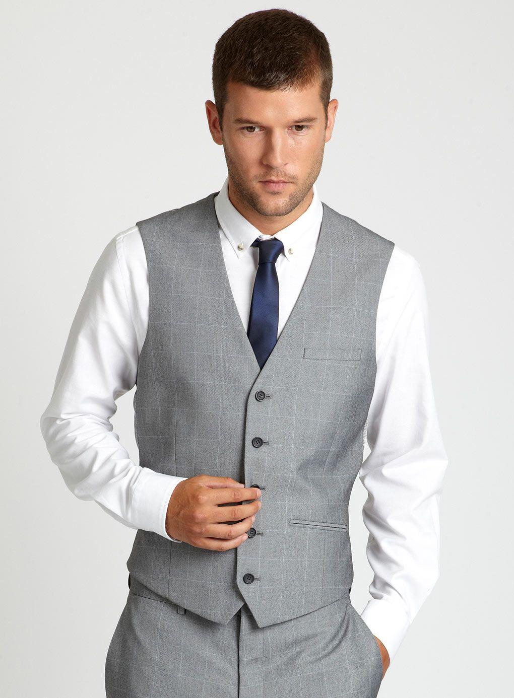 Pin By Charmain Sim On Wedding Gowns And Suits Grey Vest Groomsmen Groomsmen Attire Grey Navy Blue Tie