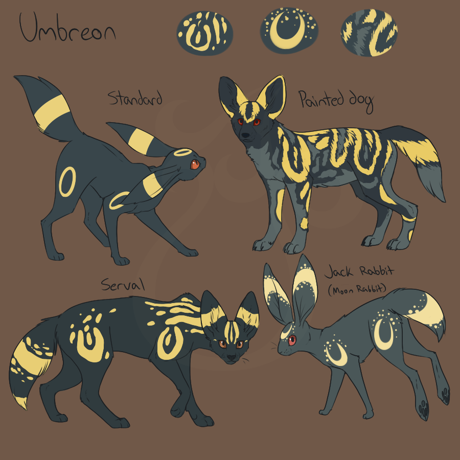 cheeziesart:Eeveelution variations!PLEASE DO NOT REPOST OR REDISTRIBUTE ON OTHER WEBSITESThroughout the years I've seen so many headcanons for the eeveelutions, many of which based the Eevees off of just one animal or a mix of them so I decided to play around with some designs to encompass most of these ideas.The main idea being that: Because Eevee's DNA is so wacky and it can evolve into so many diverse evolutions, its species can also vary from evolution to evolution, region to region…
