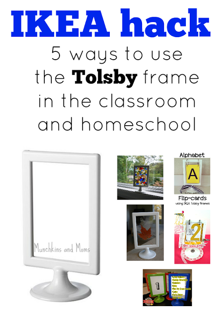 ikea hack tolsby frames in the classroom and homeschool. Black Bedroom Furniture Sets. Home Design Ideas