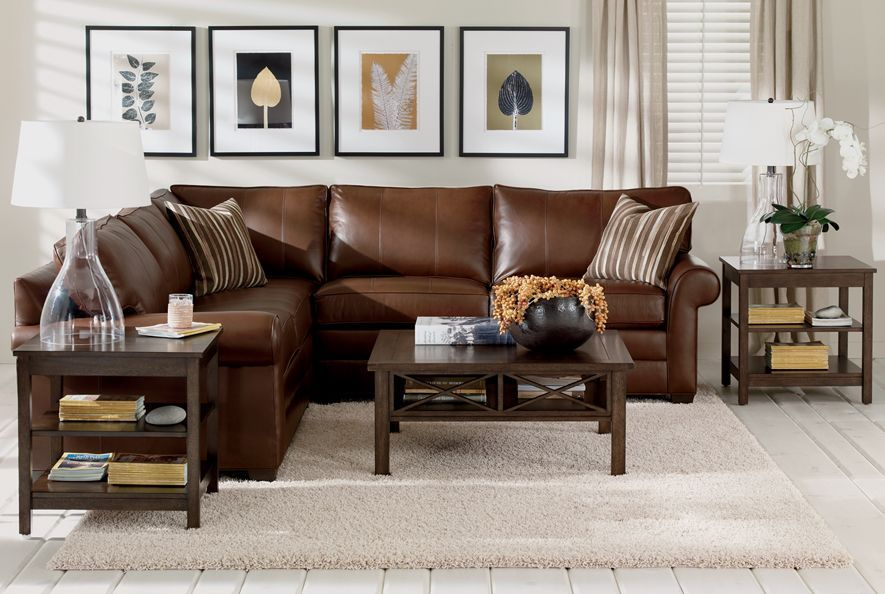 surprising ethan allen living room design ideas pictures remodel decor | Ethan Allen | Explorer Tropical Leather Living Room ...