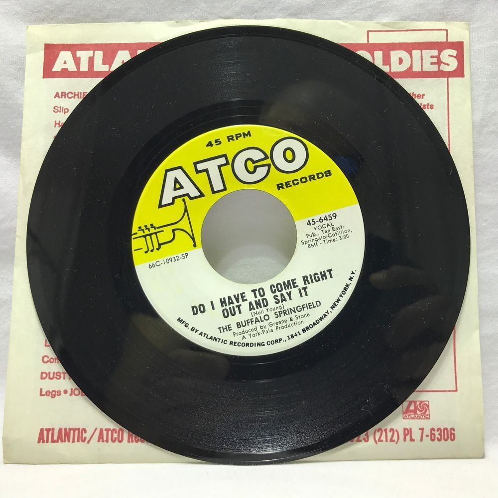 The Buffalo Springfield For What It S Worth Do I Come Right Out And Say It 45s Vinyl Records Vinyl Records