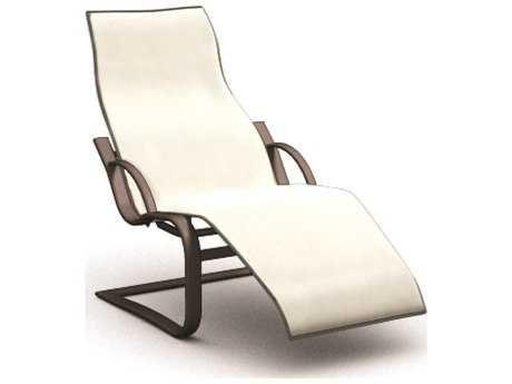 Homecrest Lana Sling Aluminum Spring Base Chaise 44500 Patio
