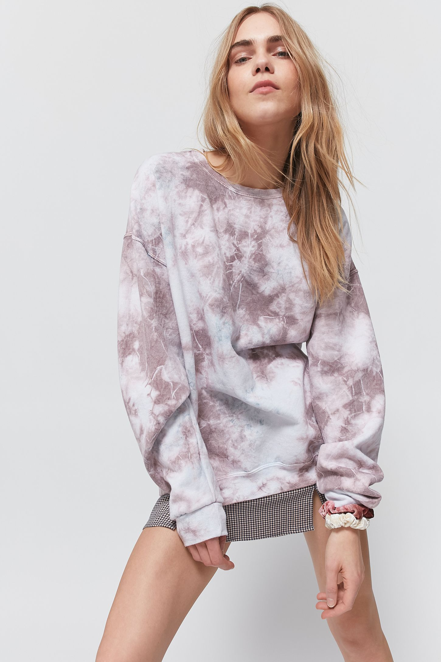 Urban Renewal Vintage Recycled Tie Dye Crew Neck Sweatshirt In