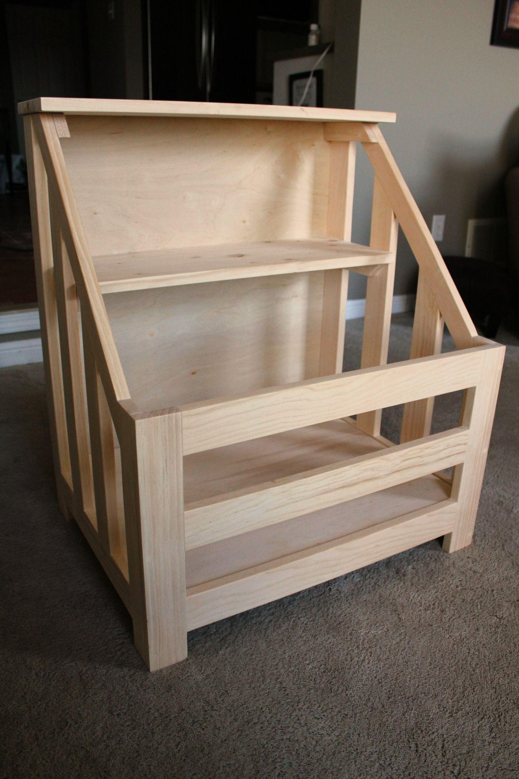 Diy toy box bookshelf i plan to recreate this using