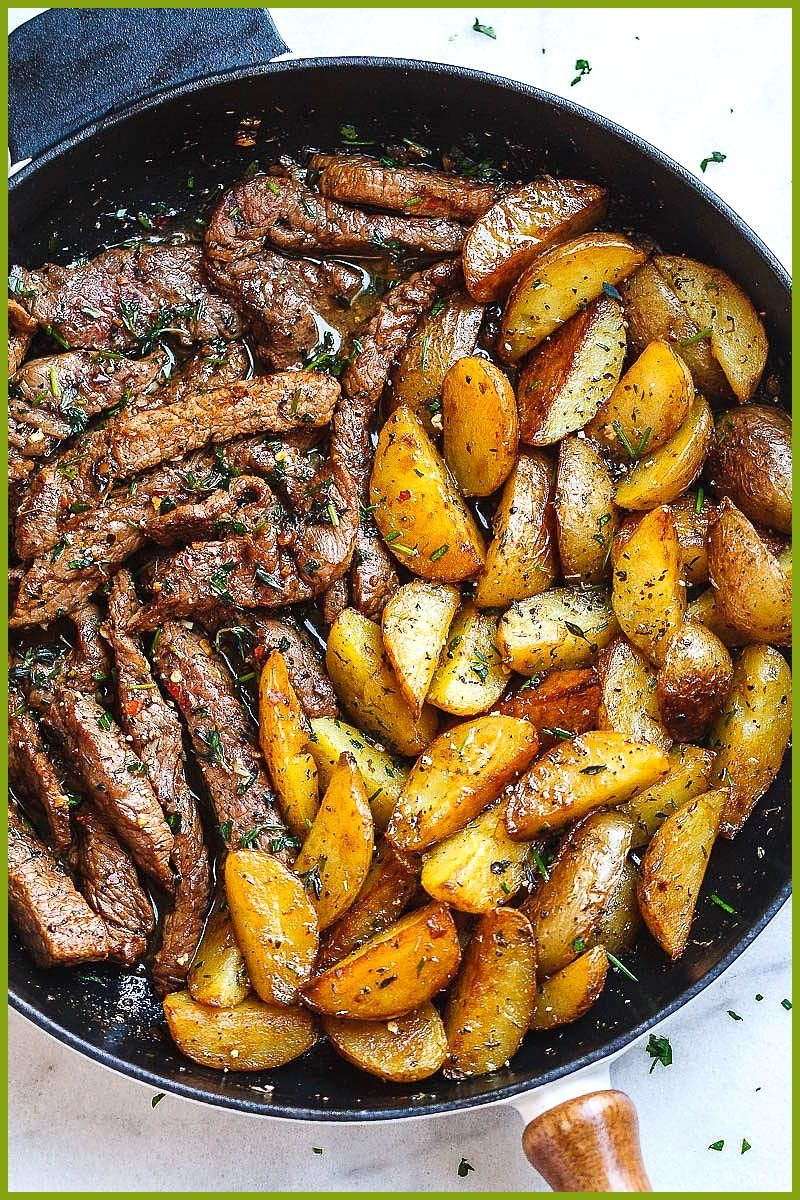 Garlic Butter Steak and Potatoes Skillet Garlic Butter Steak and Potatoes Skillet,