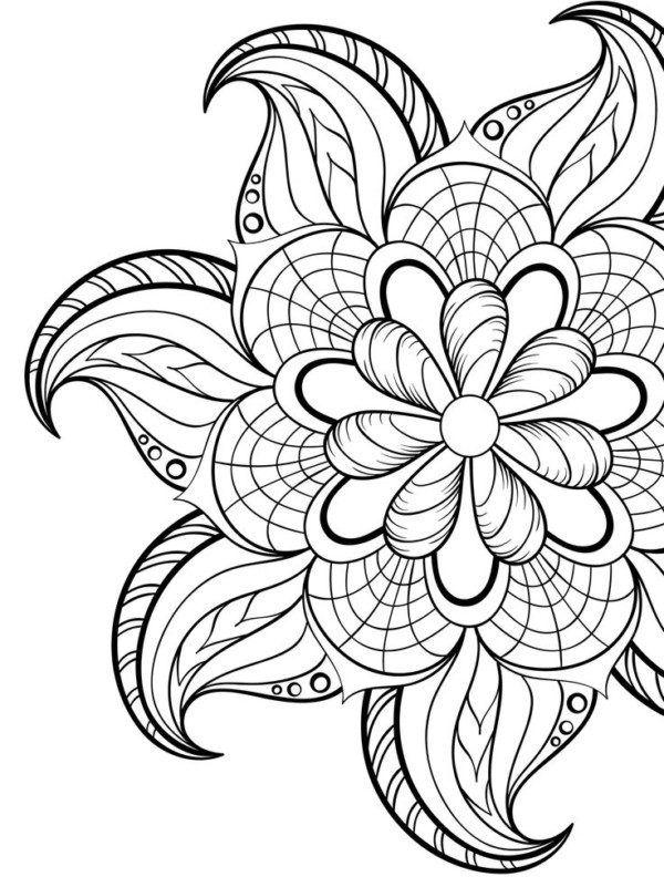 80 Mandalas con flores para colorear: Diseños inspiradores ...