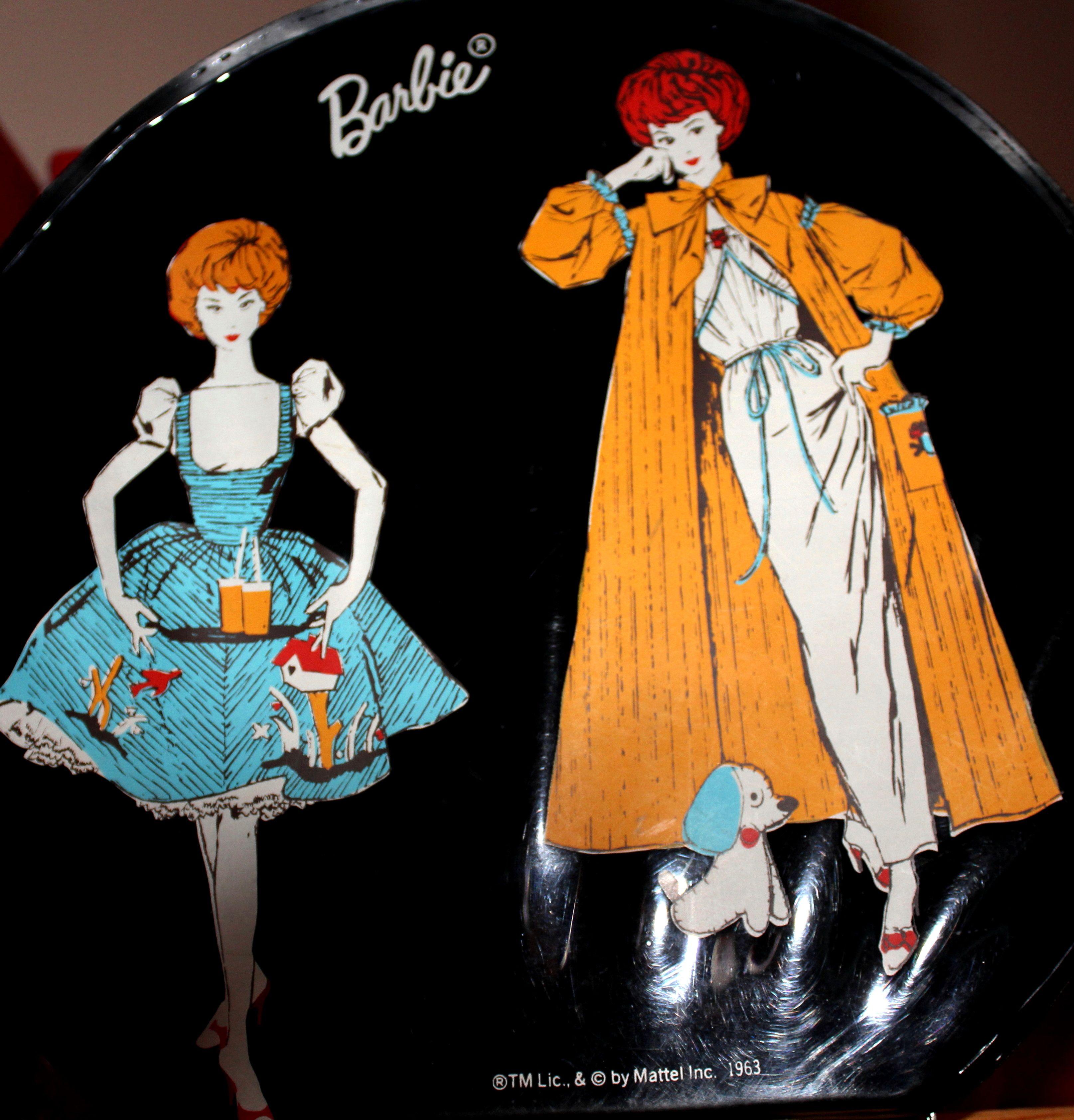 Vintage Barbie Canadian Hatbox Graphics.