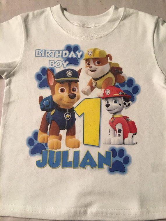 Paw Patrol Birthday Shirt By RoyallyFluffedDesign On Etsy 2nd Boys