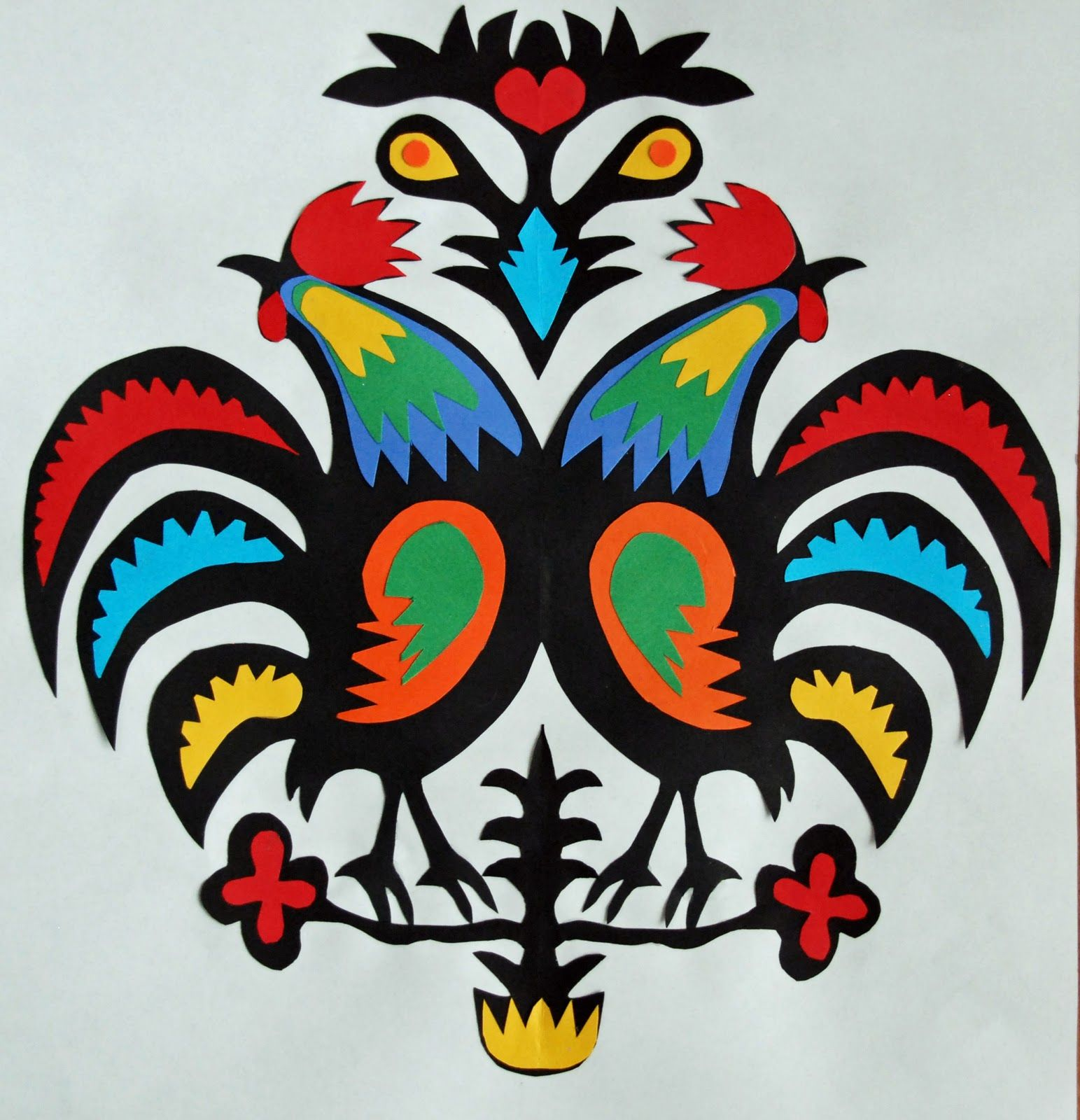 that artist woman: How to do a Rooster Wycinanki and Variations ...