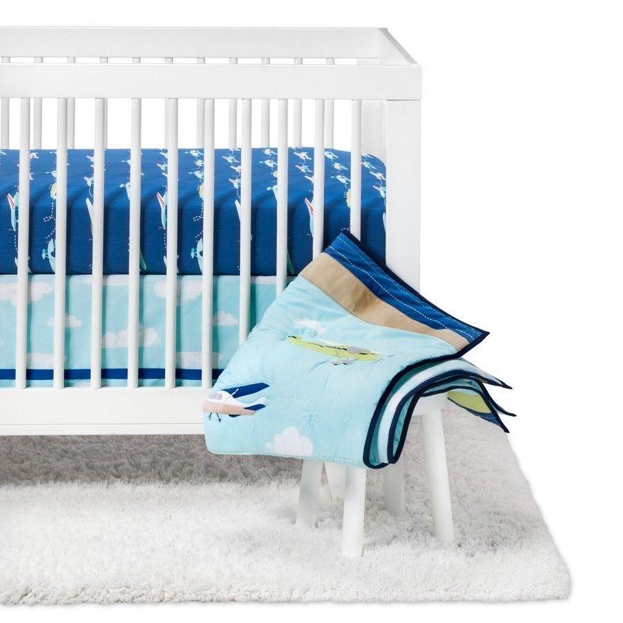 Airplane baby crib bedding toddler boy bedding airplane baby blanket airplane baby bedding baby boy bedding red white blue