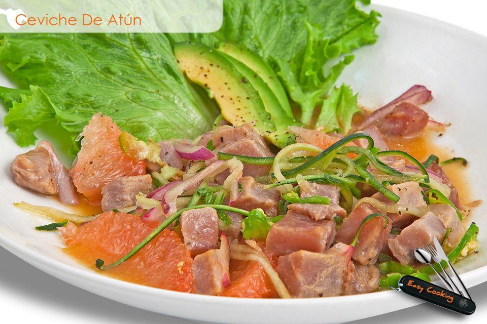 Ceviche de at n recetas comida food alimentos platos for Platos gourmet
