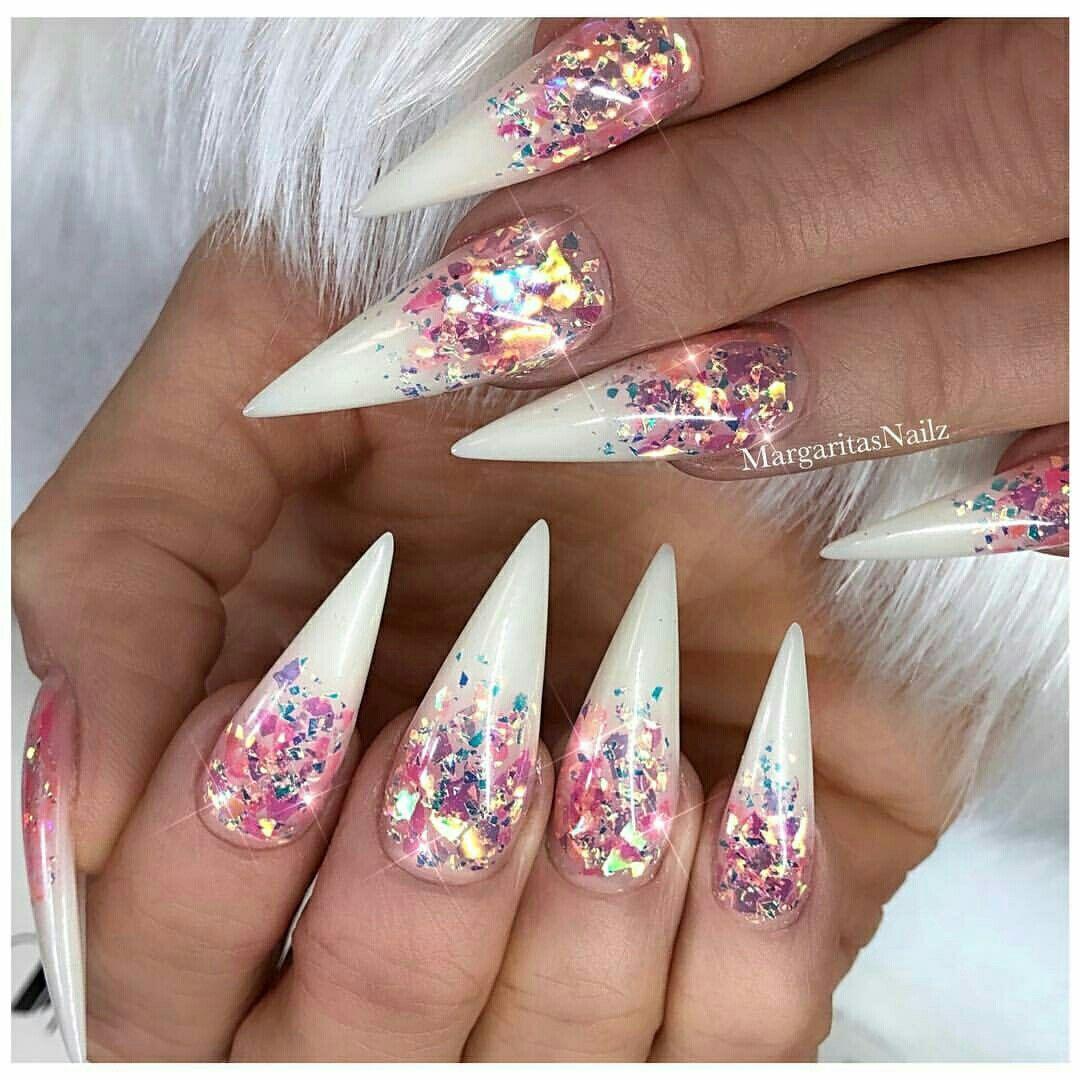 Pinterest Iiiannaiii Stiletto Nails Designs Bling Nails