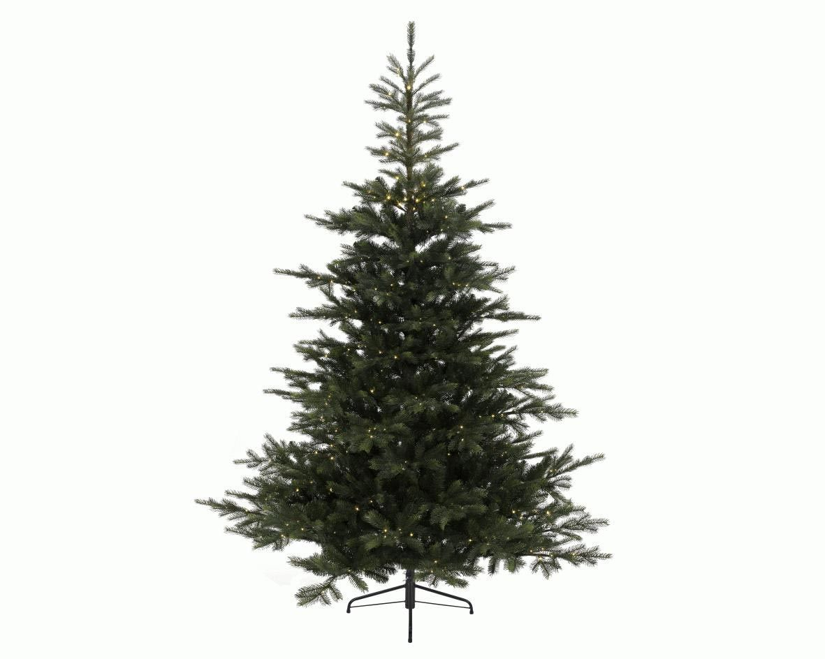 6.5ft Pre-lit Hampton Spruce Feel-Real Artificial