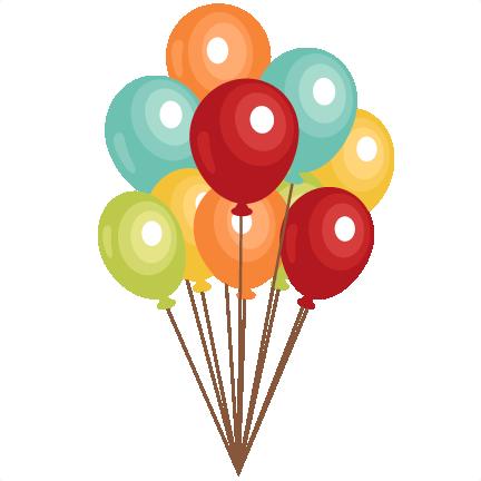 Balloons cute. Birthday clip art svg