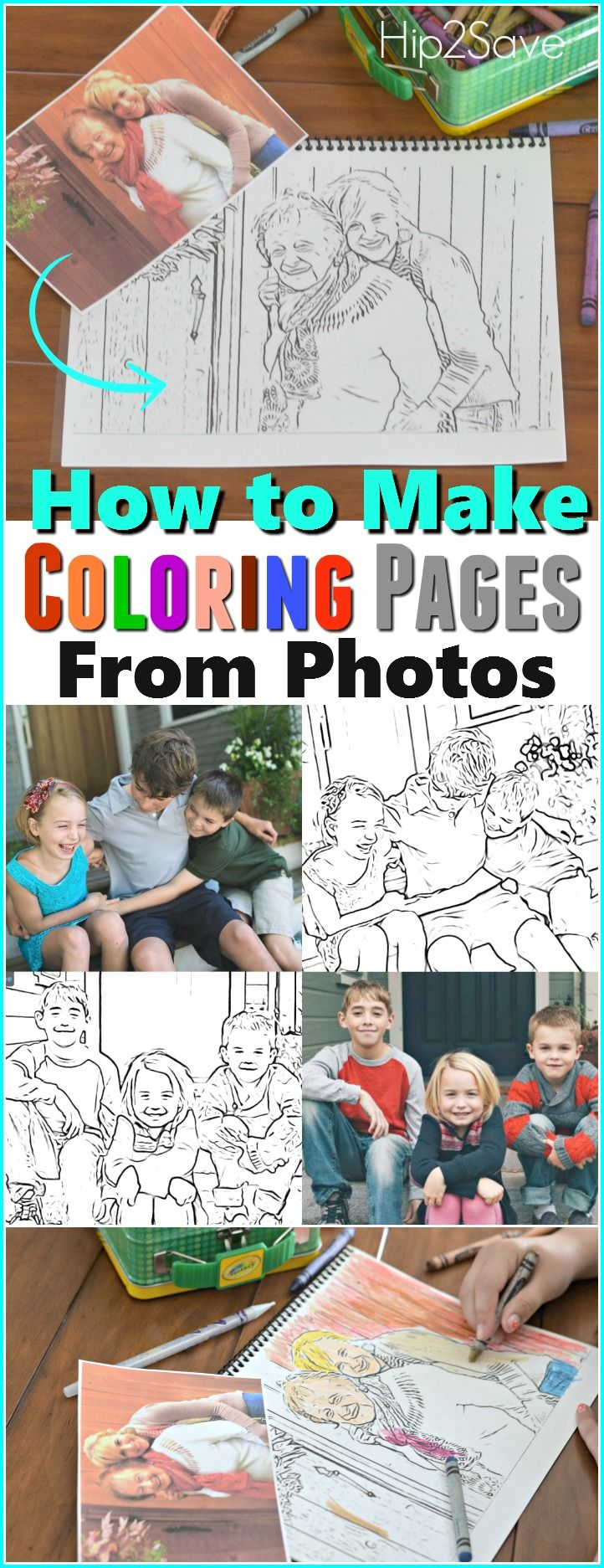 Make Custom Coloring Pages from YOUR Photos | Kids ...