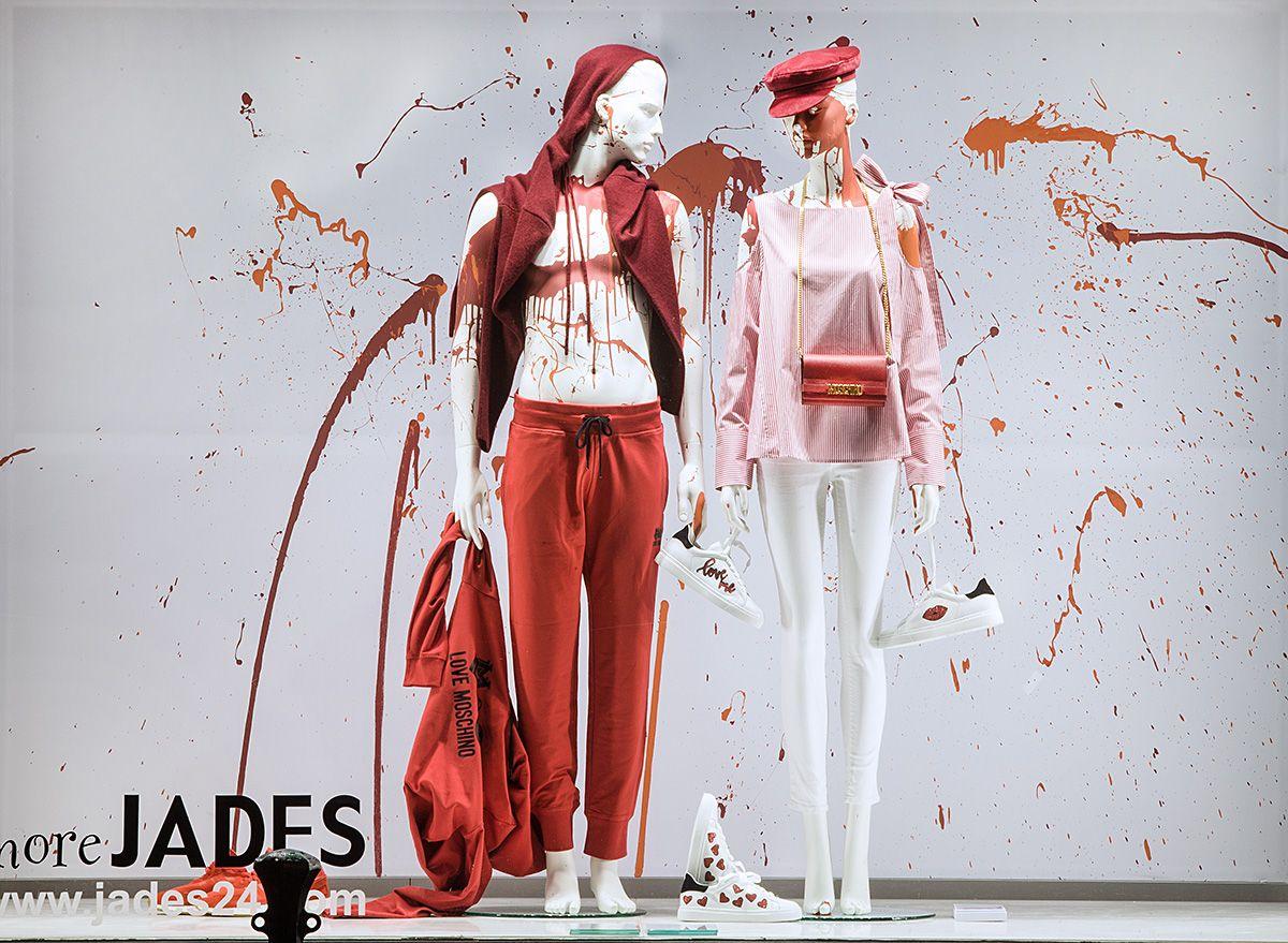 A Splash Of Color Jades24 Store More Jades Dusseldorf Concept Realisation Sayonara Visual Concepts Jadi Fashion Retail Design Mannequins