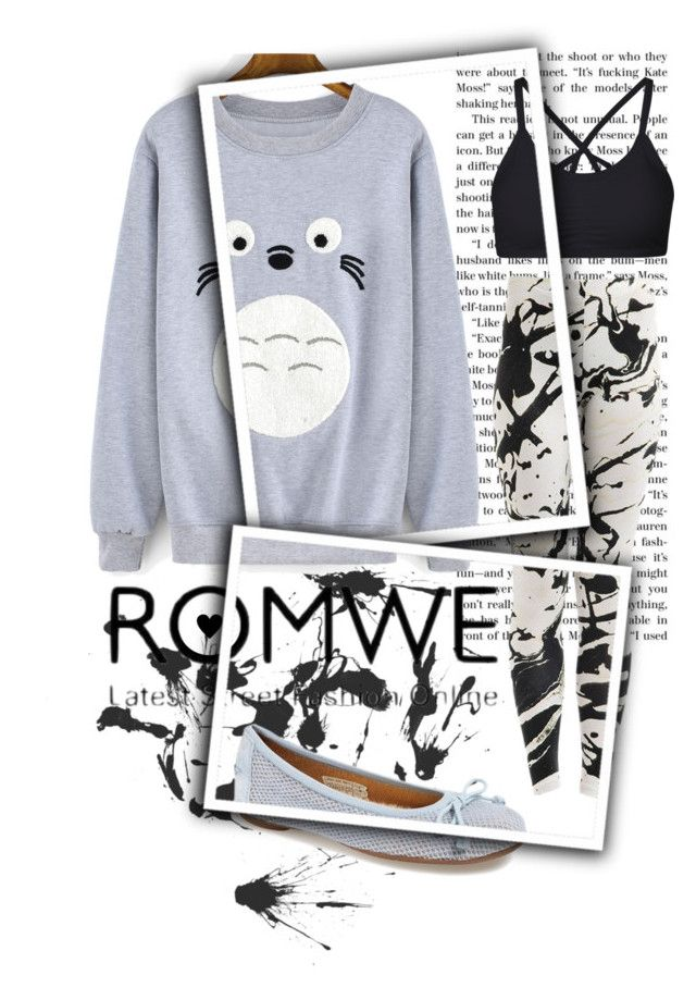 """Cartoon Print Sweatshirt"" by isis-anubis5 ❤ liked on Polyvore featuring UGG Australia"