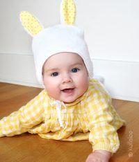 Babymütze mit Hasenohren selber nähen