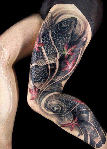 wow! koi fish leg tattoo ink spiration pinterest tattooskoi fish leg tattoo ink spiration pinterest