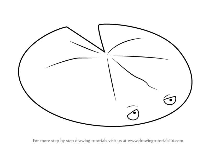 Learn How To Draw Lily Pad From Plants Vs Zombies Plants Vs Zombies Step By Step Drawing Tutorials Lily Pad Drawing Lily Pads Super Coloring Pages