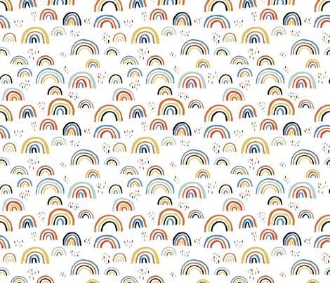 Colorful Fabrics Digitally Printed By Spoonflower Rainbow Love Scandinavian Abstract Rainbow Clouds Happy Rain Sky Blue Boys In 2021 Rainbow Abstract Rainbow Magic Rainbow Cloud