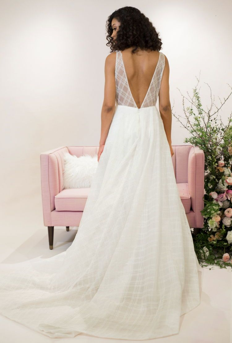 Jenny by Jenny Yoo bridal, The Avery gown is a unique take