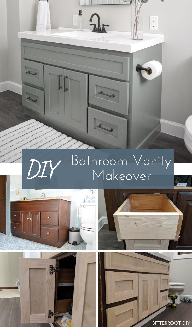Diy Bathroom Vanity Makeover Bathroom Vanity Makeover Diy Bathroom Vanity Diy Vanity