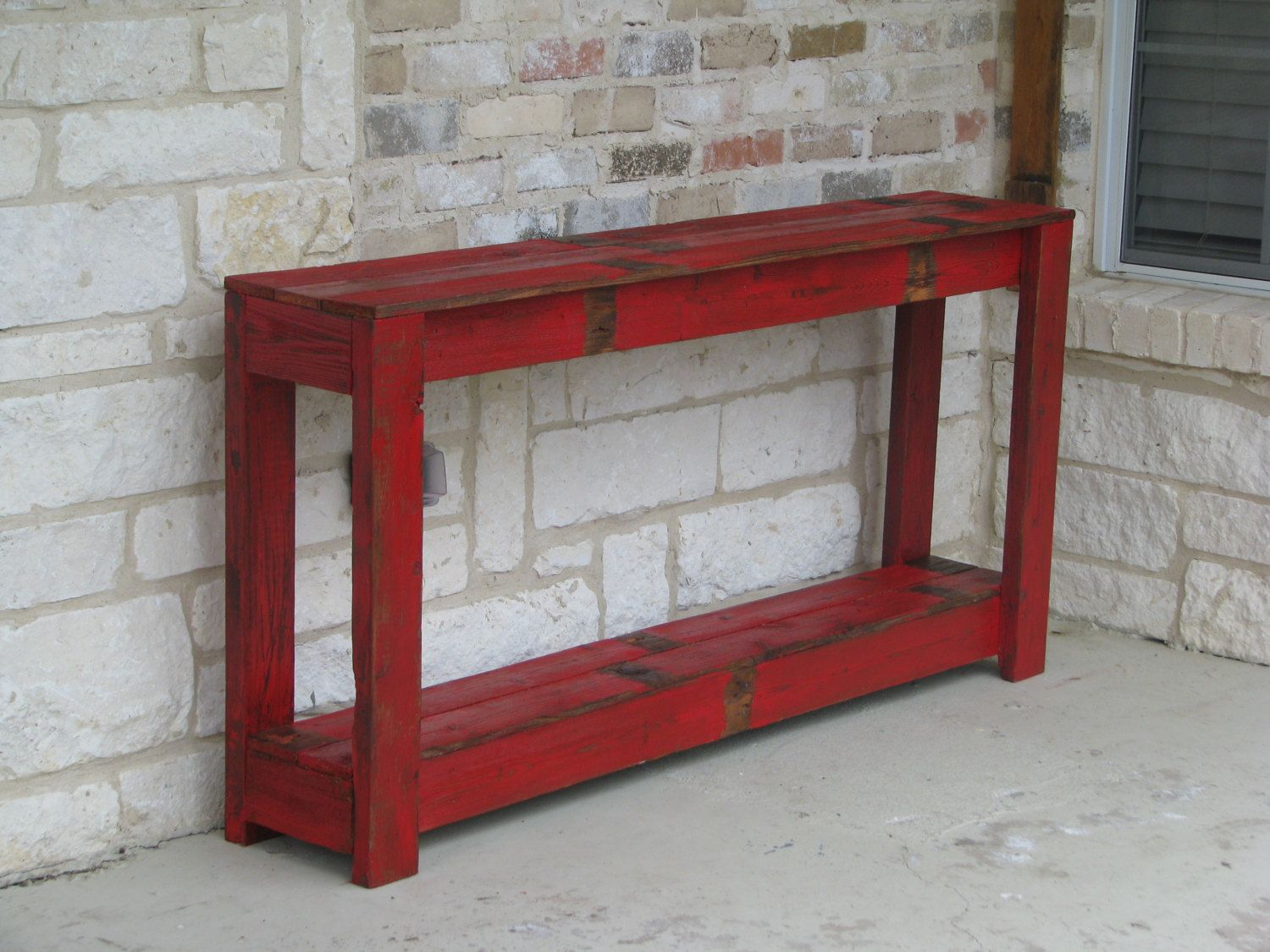 Rustic Sofa Table In Farmhouse Red By RusticExquisiteDsgn On Etsy