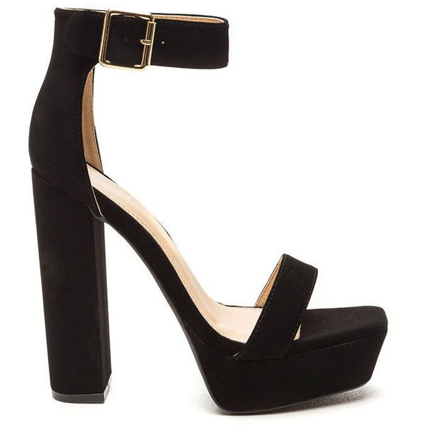 BLACK Square Away Chunky Faux Nubuck Heels (115 BRL) ❤ liked on Polyvore featuring shoes, pumps, black, black pumps, square shoes, kohl shoes, chunky black shoes and black court shoes