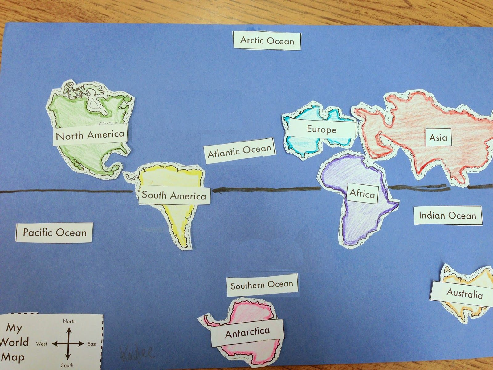 Student Made World Map