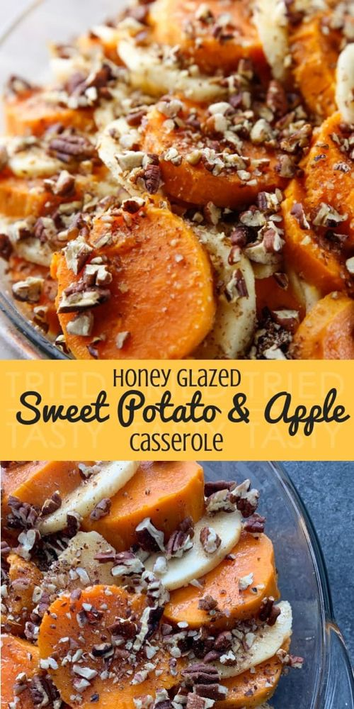 Honey Glazed Apple & Sweet Potato Casserole + VIDEO