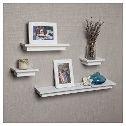 Target Floating Shelves Mesmerizing Set Of 4 Cornice Ledge Shelves With Photo Frames White  Ledge Inspiration