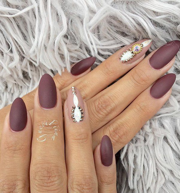 50 Rhinestone Nail Art Ideas Autumn Nail Pinterest Wide Nails
