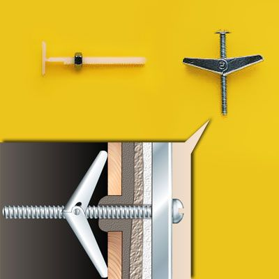 How To Choose The Right Hanging Hardware Hanging Heavy Mirror Toggle Bolts Metal Stud Framing