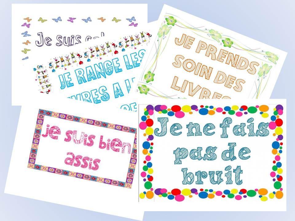 Affichage Des R Gles Pour Le Coin Livre Organisation De Classe Pinterest Coins Livre