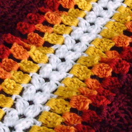 Crochet Afghan Double Crochet Stripes Dees Favorite Crochet