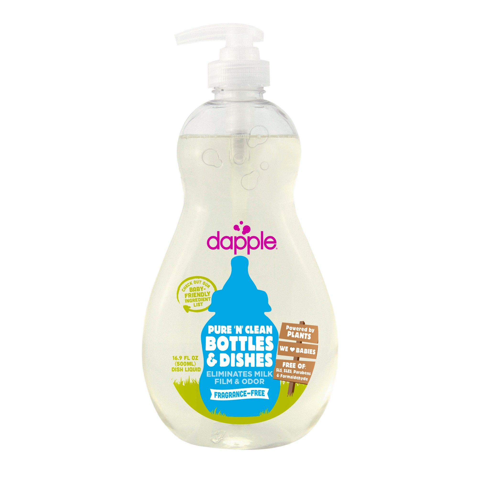 Dapple Bottle Dish Soap Fragrance Free 16 9 Fl Oz