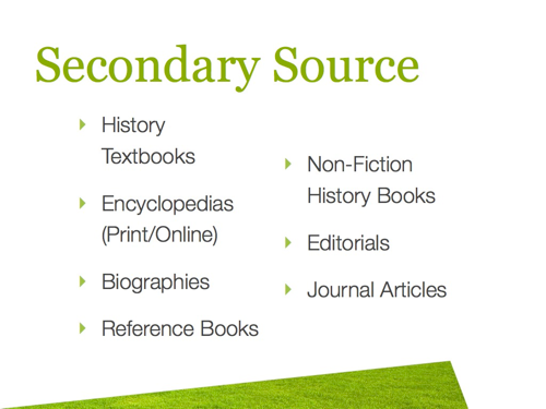 Primary sources: Definition: First hand accounts or original ...