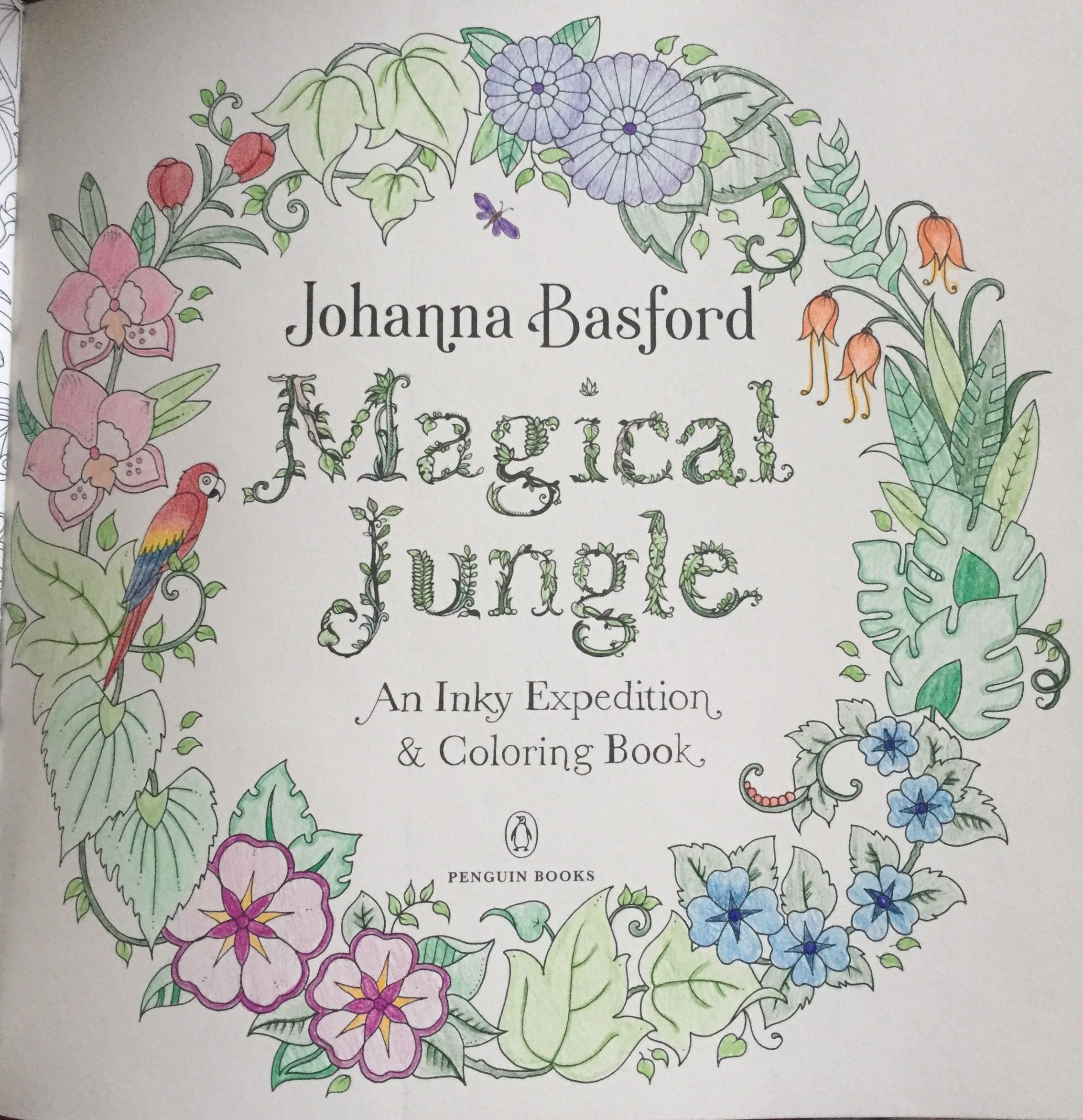 Contemporary Jungle Coloring Book Sketch