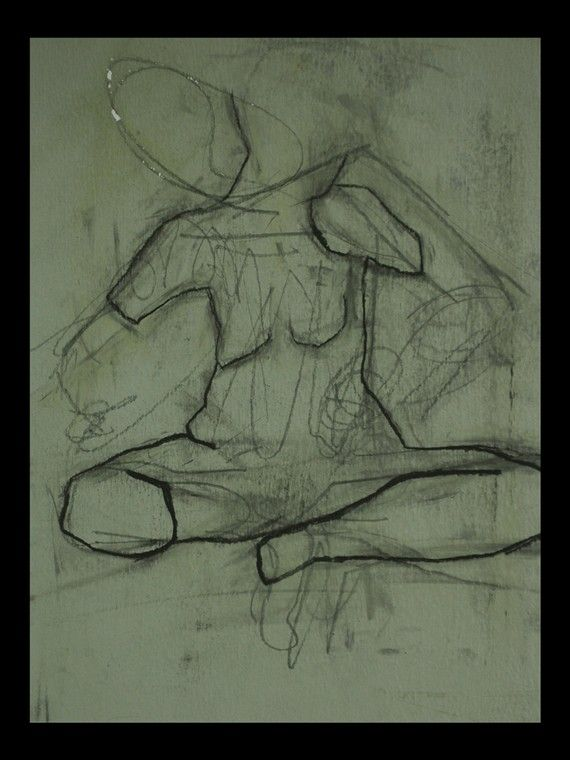 Figure Drawing charcoal  Unframed by ConnieKSalesArt on Etsy, $60.00