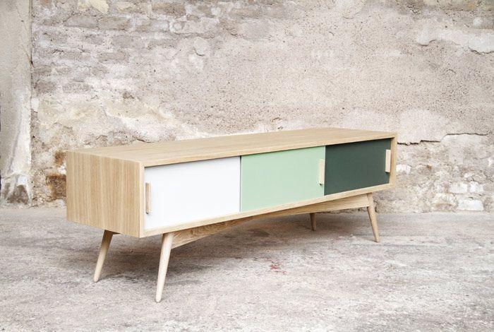 Produits Gentlemen Designers Mobilier Vintage Made In France Meuble Bas Mobilier De Salon Decor De Television