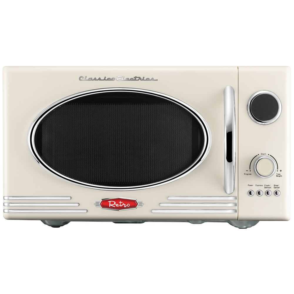 wilko retro microwave cream 23l at micro onde. Black Bedroom Furniture Sets. Home Design Ideas