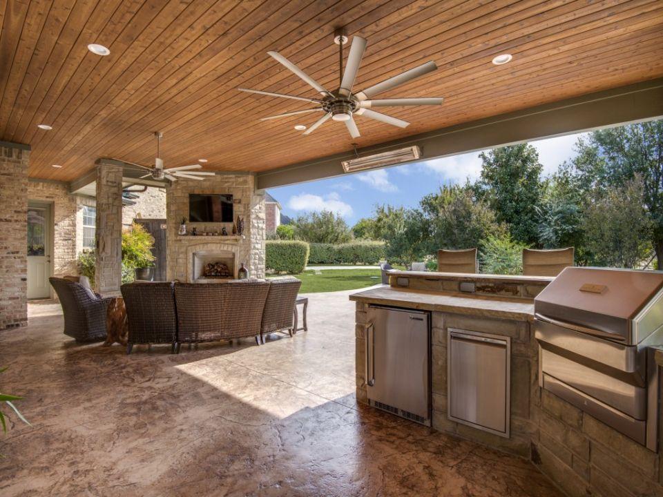 Outdoor Living In Prosper Portfolio Dfw Improved 972 299 8939 Outdoor Kitchen Design Layout Outdoor Kitchen Design Outdoor Remodel