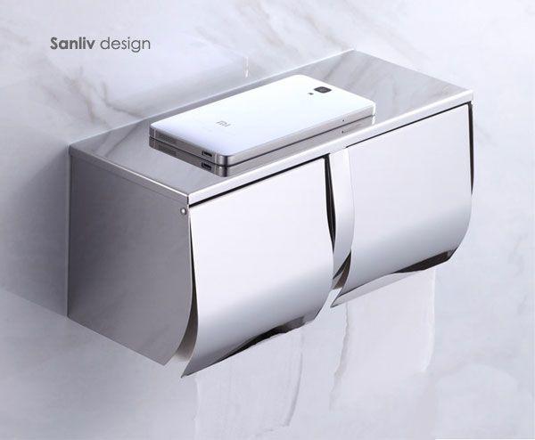 Double Toilet Roll Holder 5806 Toilet Paper Dispenser Modern Toilet Double Toilet Roll Holder