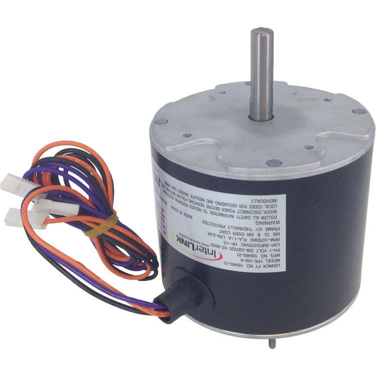 Lennox 43w49 Condensor Fan Motor 1 5 Hp 208 230 1 1075 Rpm Interlink 100483 21 Fan Motor Blowers Lennox
