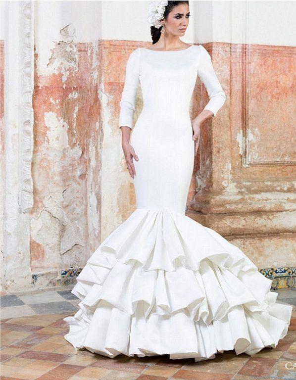 vestidos de novia flamencos para novias con mucho arte