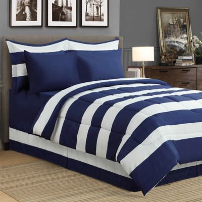 Millano Collection Hampshire Twin Comforter Set In Blue